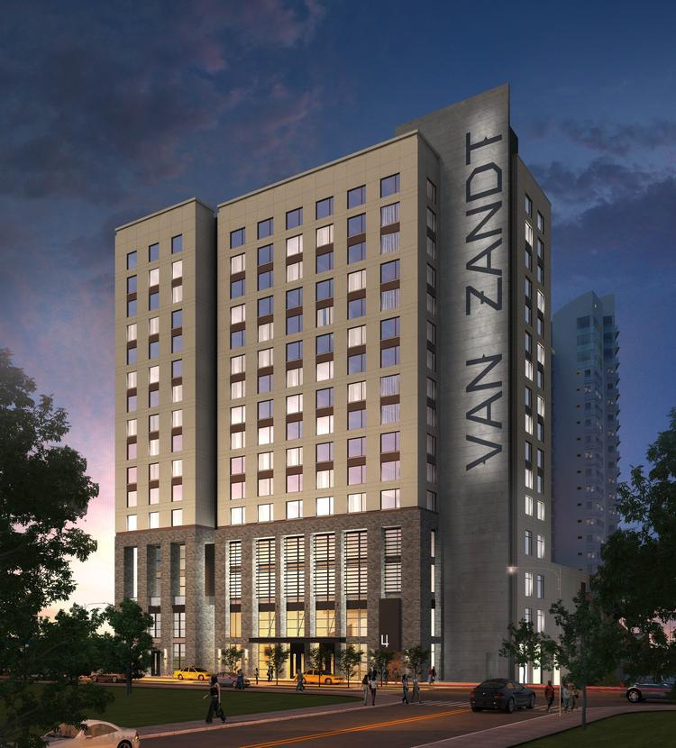 Hotel Van Zandt Boutique In Austin Texas 16 Story Intercontinental With 322 Guest Rooms